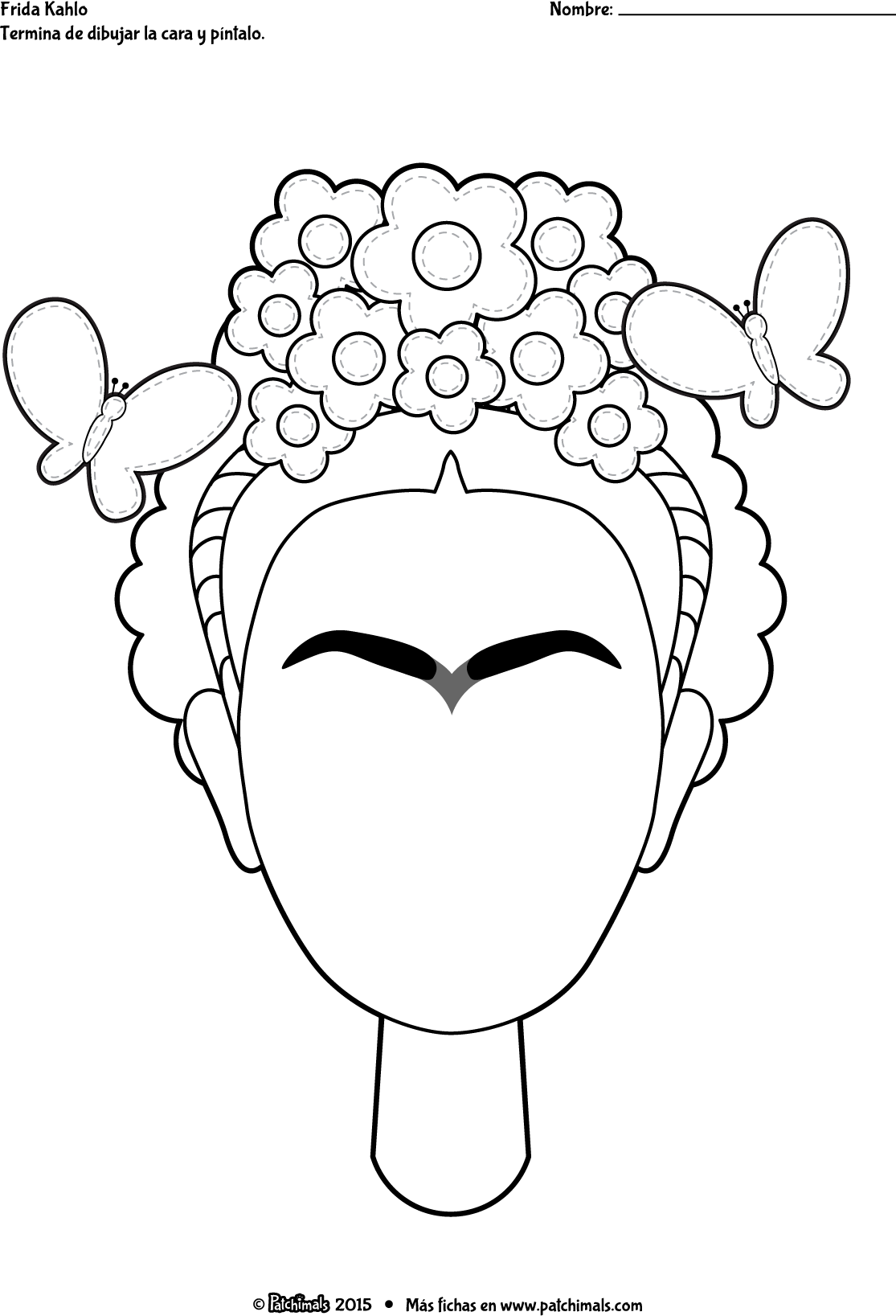 Worksheets Frida Kahlo Worksheets patchimals educational and cultural contents for children apps frida kahlo autorretrato